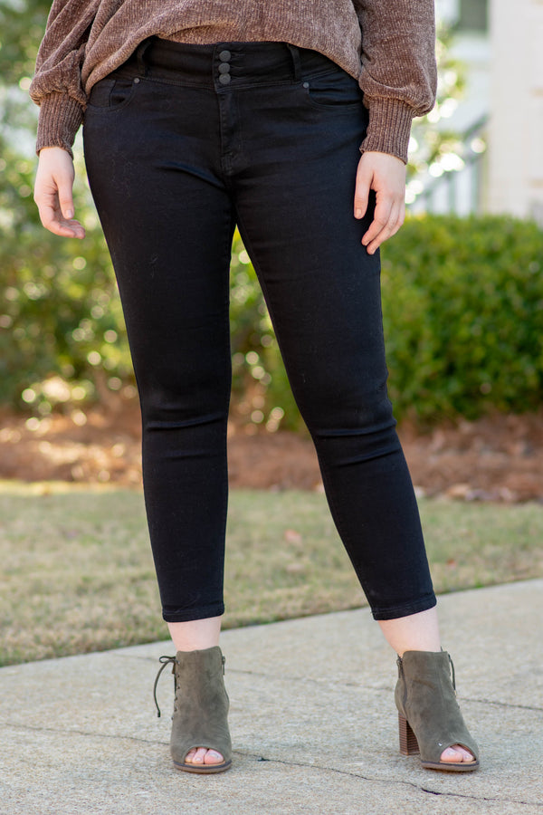Away For The Weekend Skinny Jeans, Black