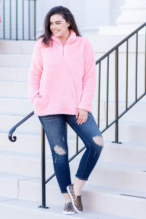 Perfectly Plush Pullover, Pink