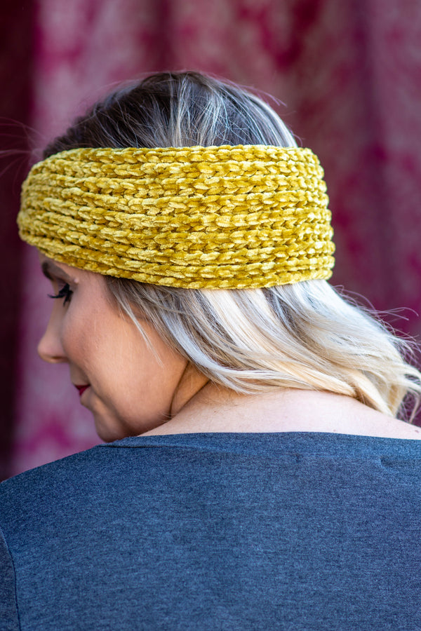 Cozy Encounter Headwrap, Mustard