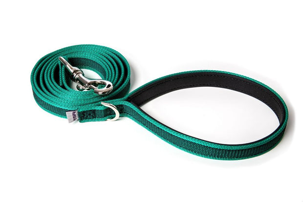 splash-dog-leash-green