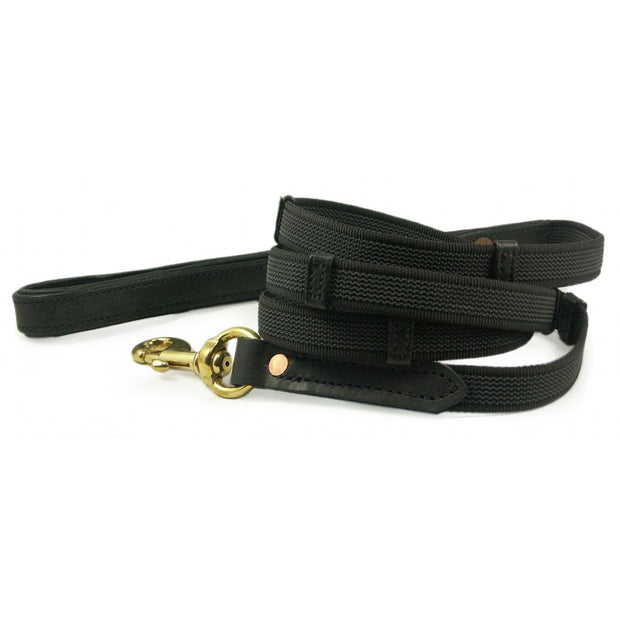 Leather Handle Dog Leash, Large Dogs, 4', 5', 6'