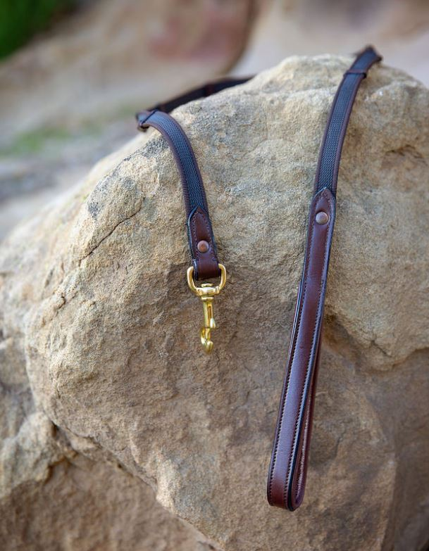 Leather Handle Dog Leash, Large Dogs, 4' or  6'