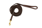 Leather Handle Tracking Lead, Medium Dogs, 15 foot