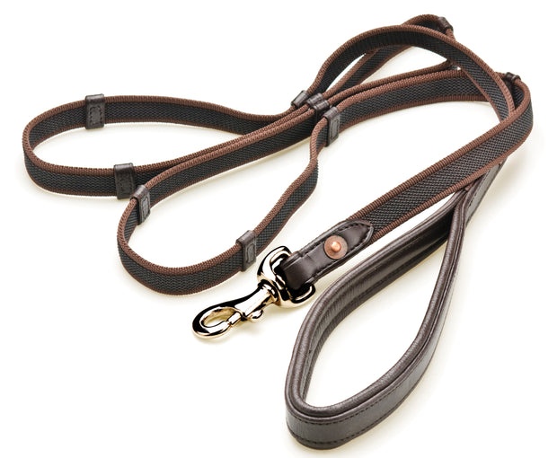 Leather Handle Dog Leash, Large Dogs, 4 to 6 foot