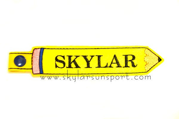 Back to School Pencil Snap Tab - skylarsunsports.com