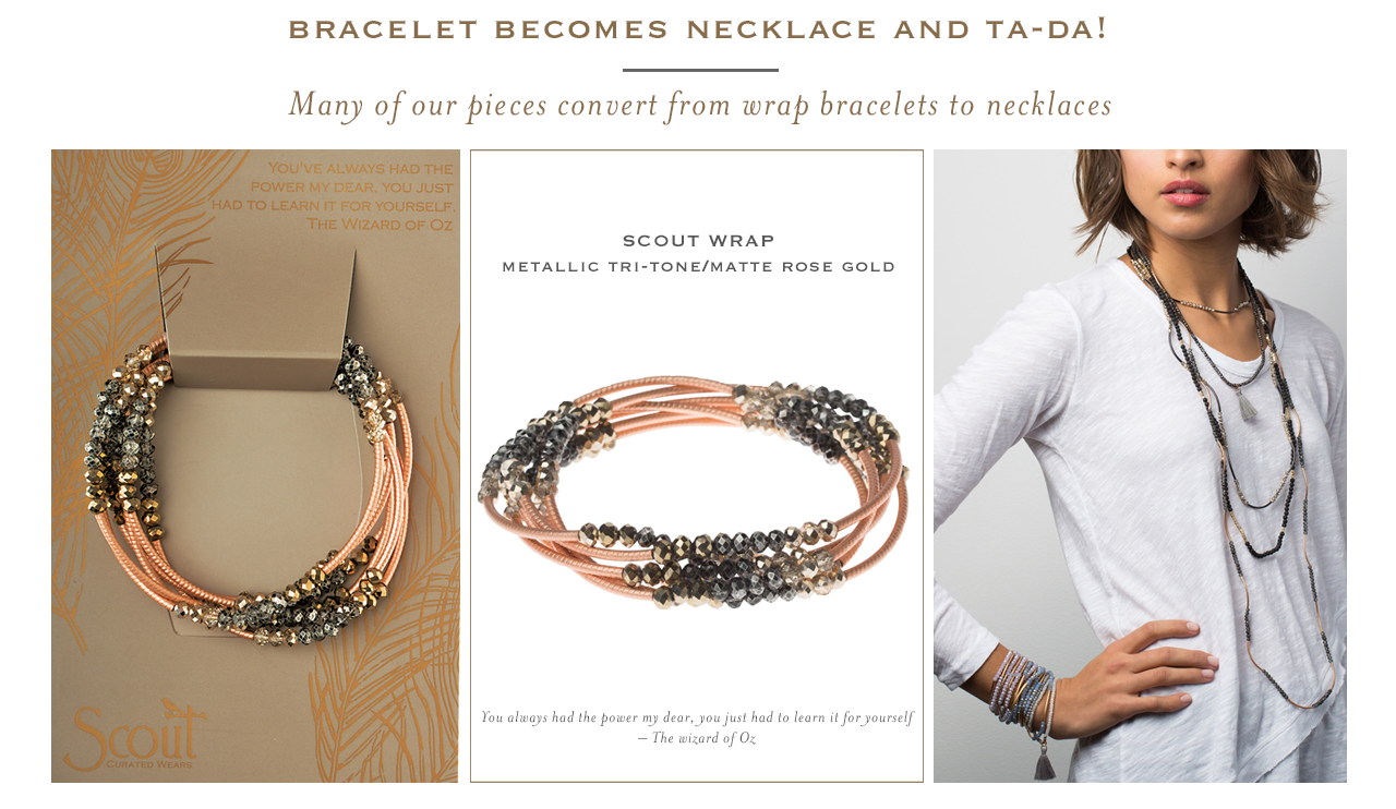 Scout Curated Wears Converts from Bracelet to Necklace