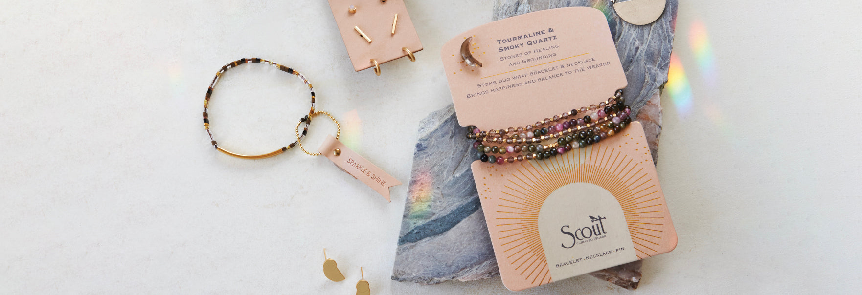 Scout Curated Wears Stone Duo Wrap Bracelet or Necklace Stone Power Convertible Jewelry Gift Giving Women