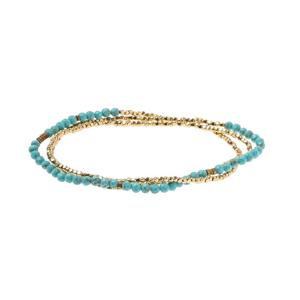 Delicate Stone Turquoise/Gold - Stone of the Sky
