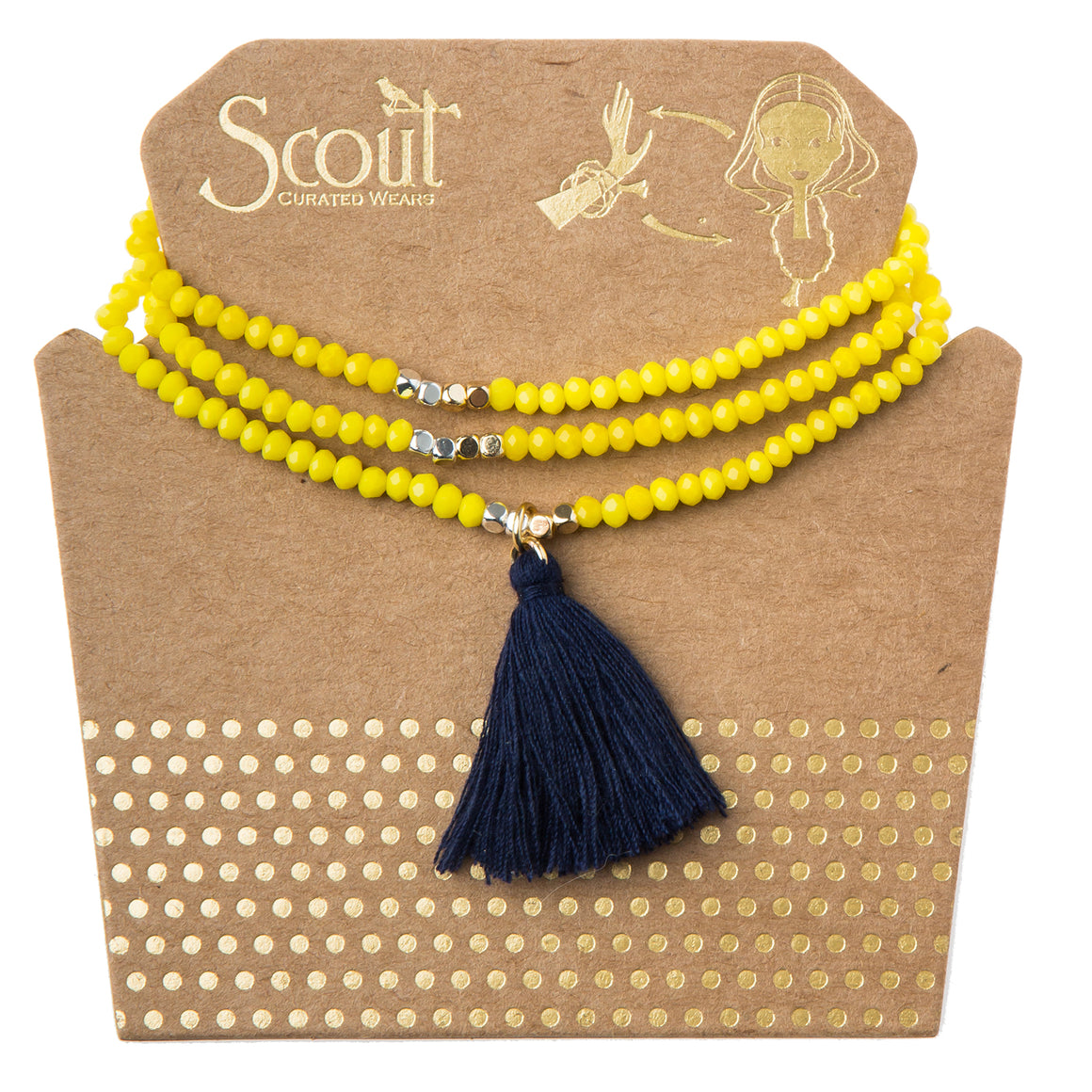 Tassel Wrap : pineapple multi