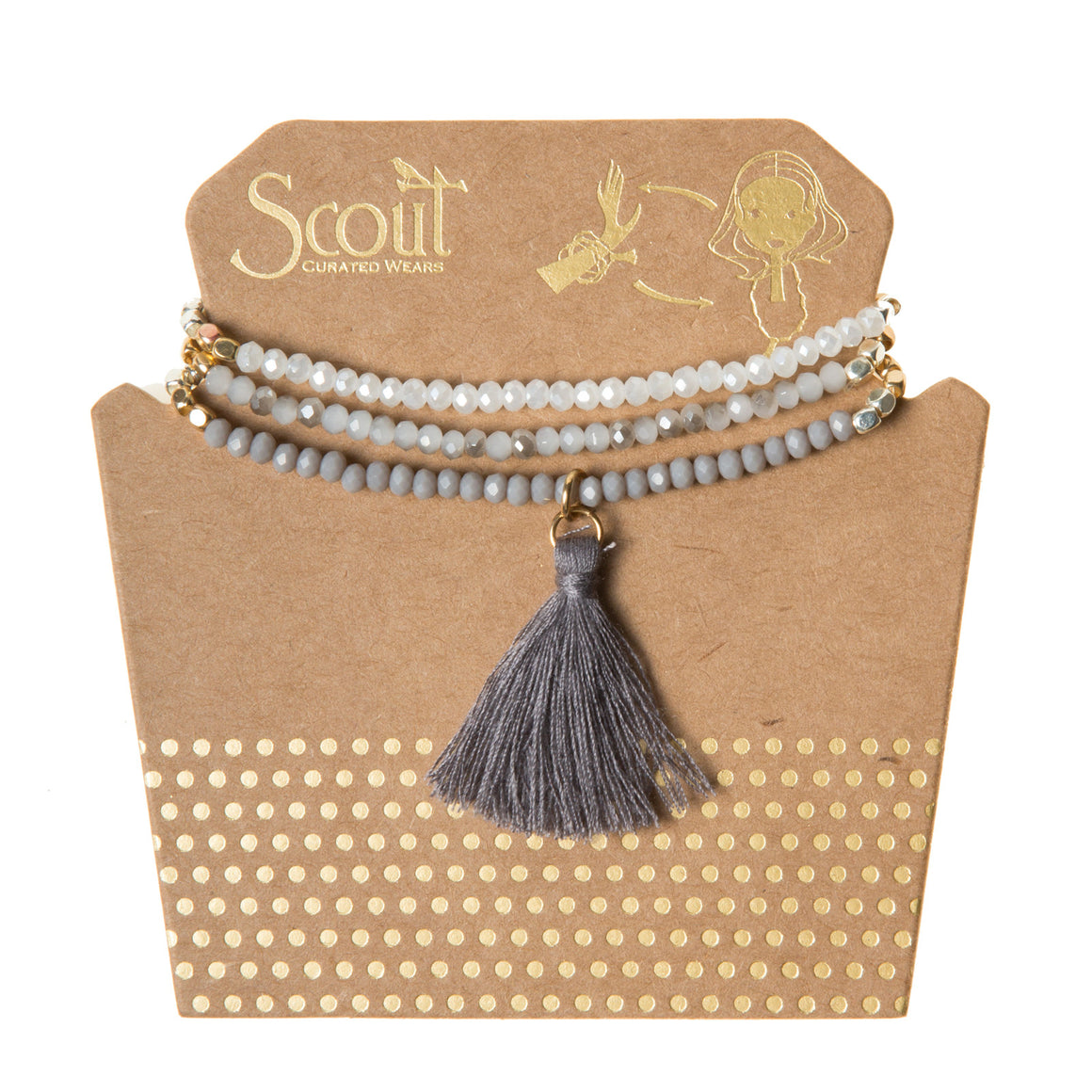 Tassel Wrap : gray multi