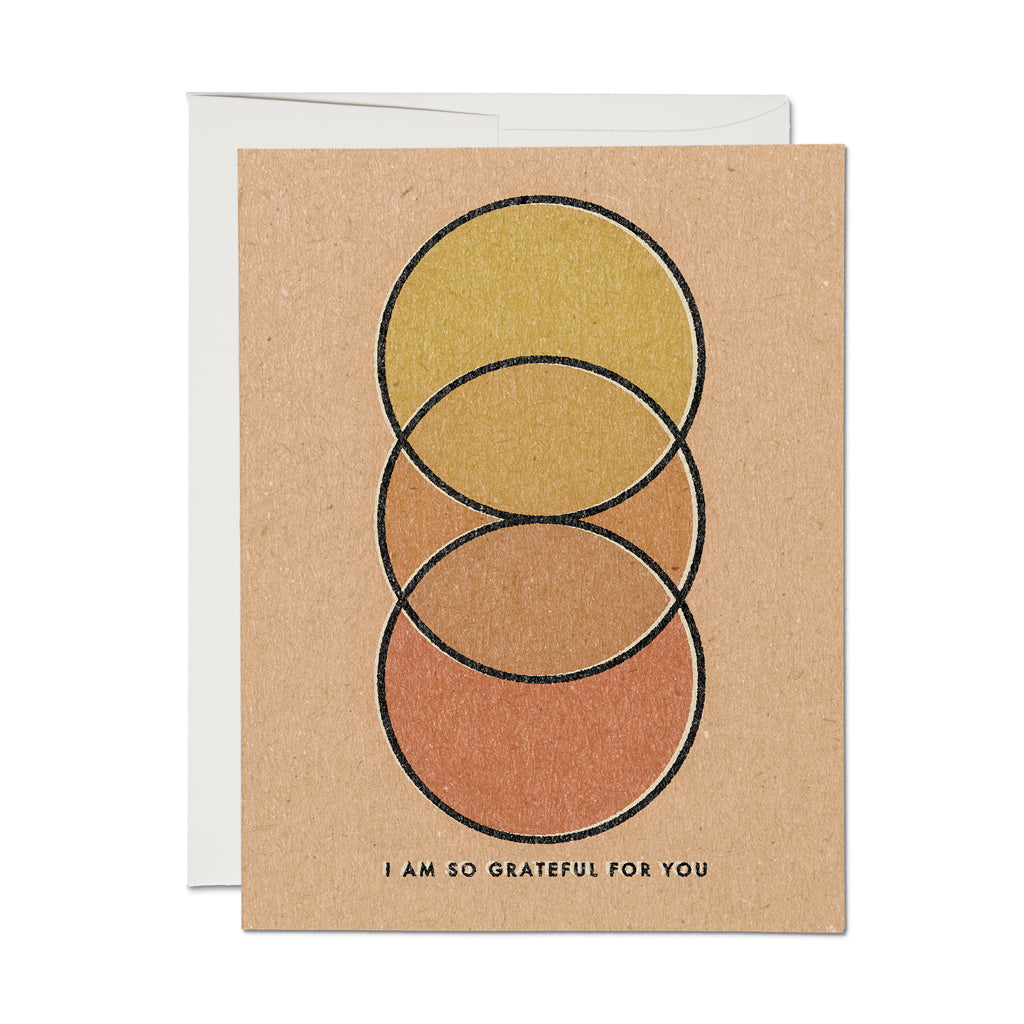 Grateful Circles Greeting Card
