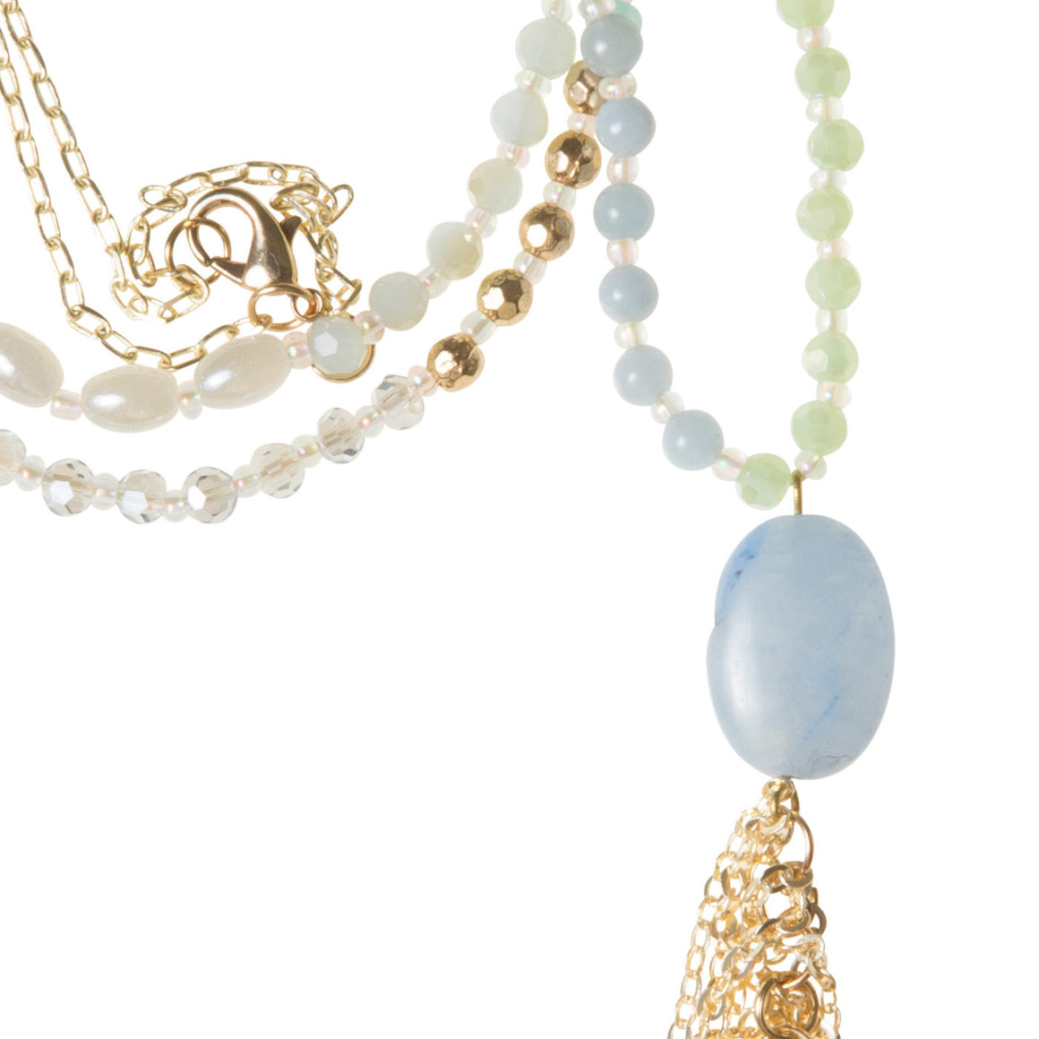 Daily Mala Necklace : mist/gold