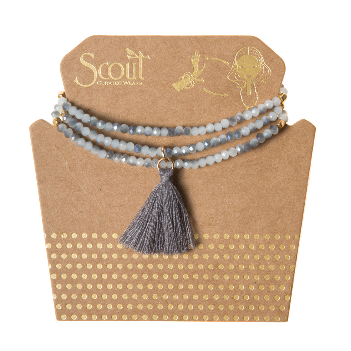 Tassel Wrap : cloud grey