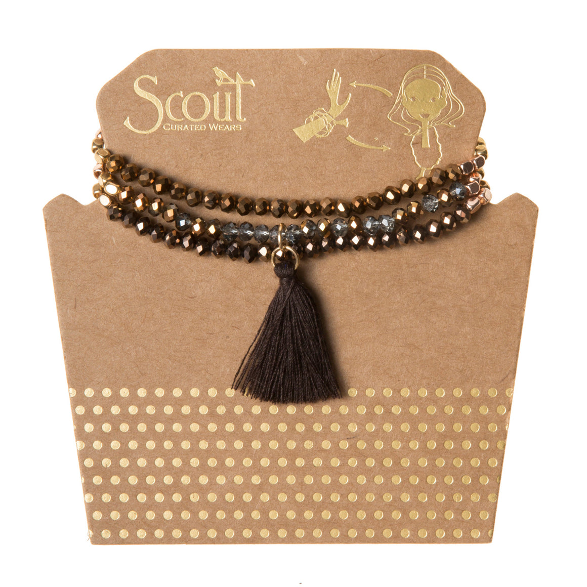 Tassel Wrap : bronze multi