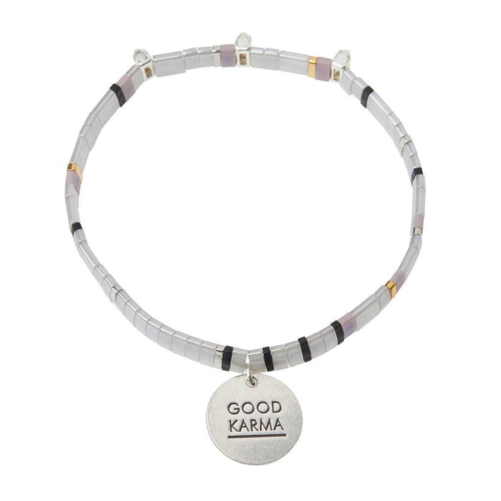 Good Karma Miyuki Charm Bracelet - Good Karma Cloud/Sparkle/Silver