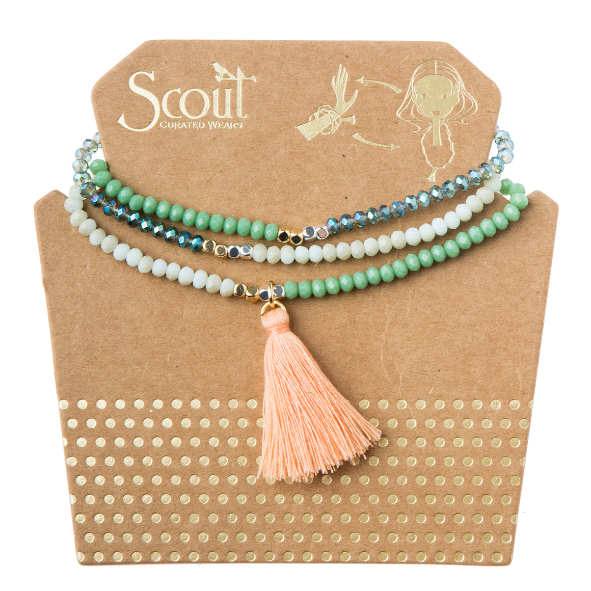 Tassel Wrap : seabreeze multi