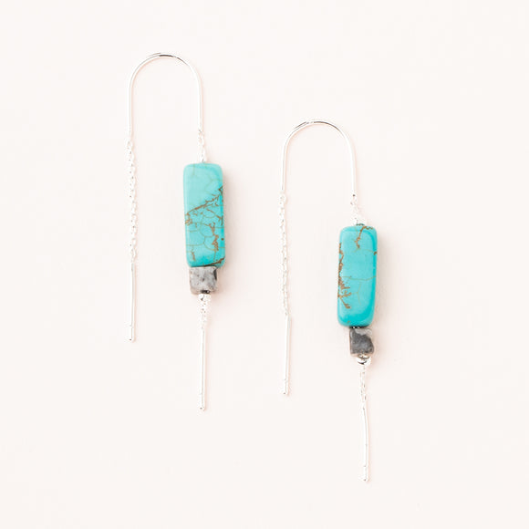 Rectangle Stone Earring