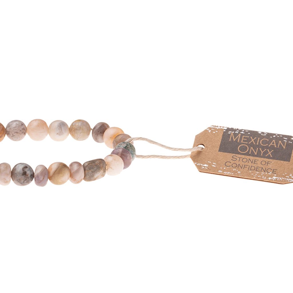 Mexican Onyx Stone Bracelet - Stone of Confidence