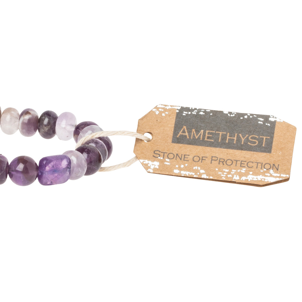 Amethyst Stone Bracelet - Stone of Protection