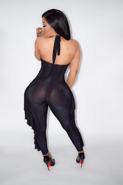 Black Detailed Body Suit