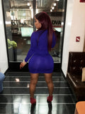 Copy of Royal Blue Bejeweled mini dress