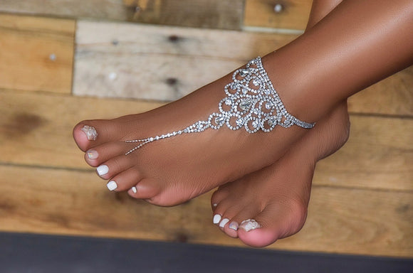 Swarvoski Crystal Foot Ring Anklet