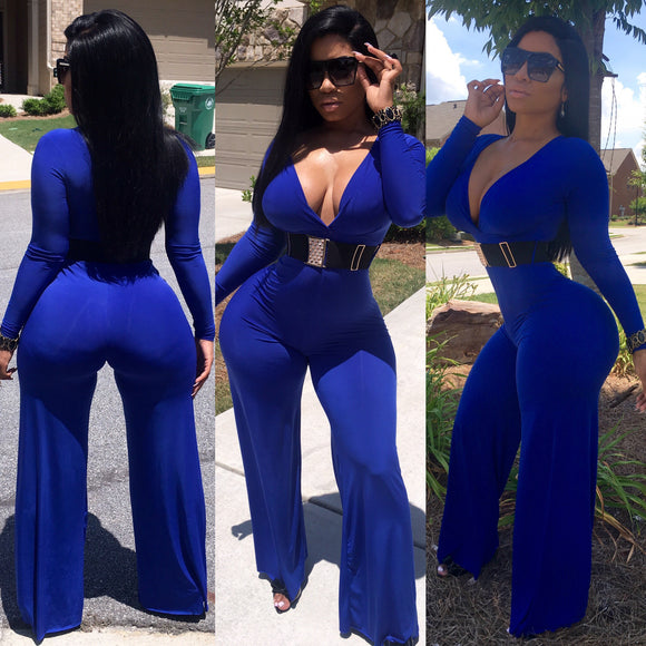 PPS- Royal Blue Bodysuit (Belt included)