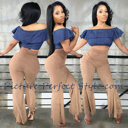 Ultra Stretch Suede High Waist  Pants