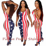 American Flag Split Dress