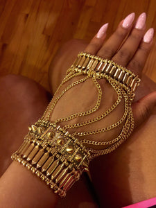 Hand Chain Cuff Gold Spike