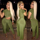 Olive Green 2 Piece Set