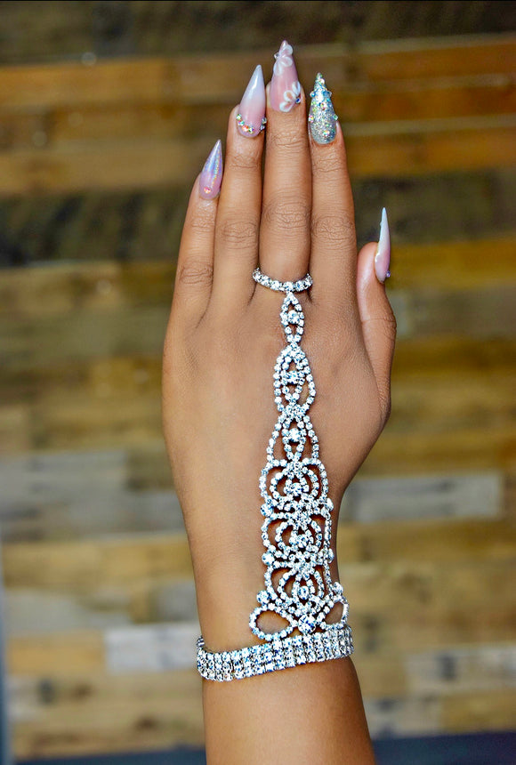 Silver Rhinestone Arm/Ring Jewelry