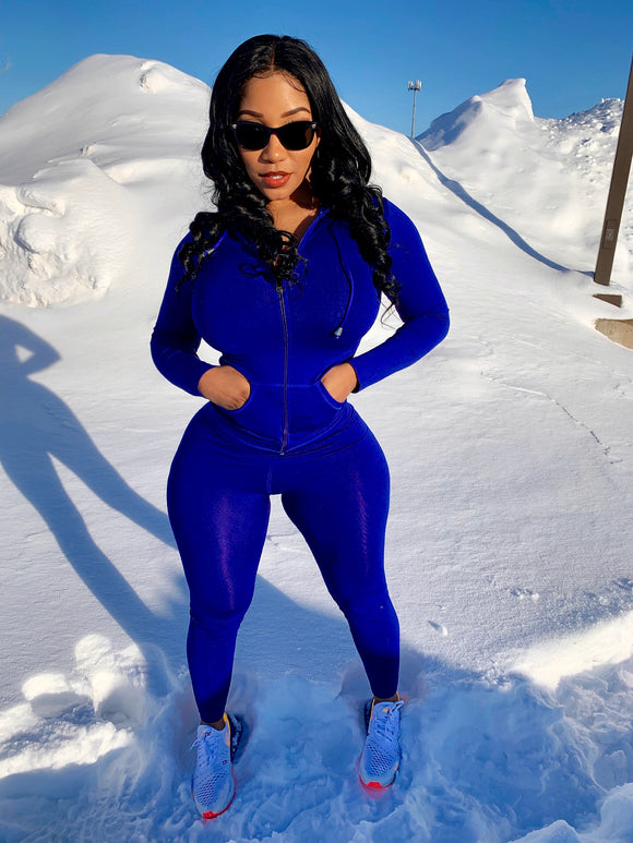 Blue 2 piece workout set
