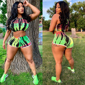 Neon  colorful 2 piece set
