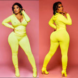 Yellow 2 piece joggers set