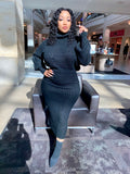 Black 2 Piece Sweater Set