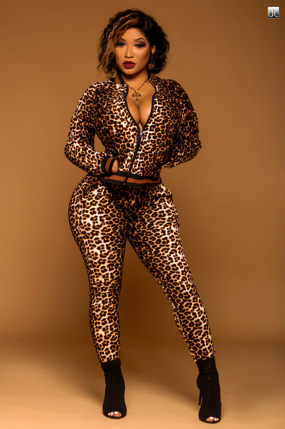Ms Cheetah 2 Piece Set