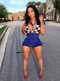 Royal Blue Checkered Bodysuit/Onesie