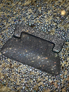 Swarovski Crystal Clutch With black Out Line