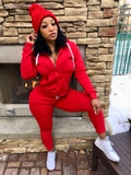 "Copy of Red 2 Piece Jogger Hoodie Set ""HAT INCLUDED"""