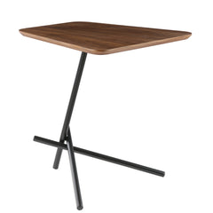 Trapezoid Walnut Side table