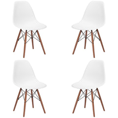 Vortex Side Chair Walnut Base (Set of 4)