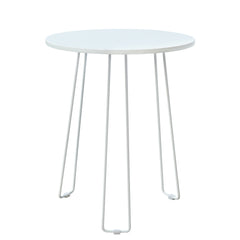 Coffette Hairpin End Table in White
