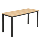 Bristol Office Desk in Natural, Black