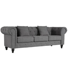 Hendrick Chesterfield Sofa in Gray
