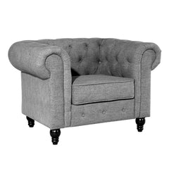 Hendrick Chesterfield Armchair in Gray