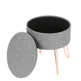 Hattie Small Round Storage Stool