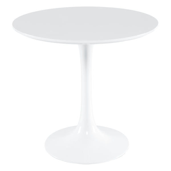 "Daisy 31"" Round Wood Top Dining Table in White"
