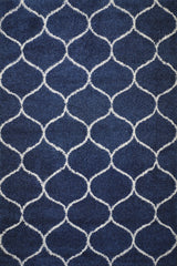 Marrakesh Moroccan Tile Shag Area Rug (8' x 10') in Blue