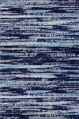 Hennessy Distressed Stripe Area Rug (5'3'' x 7'10'') in Blue